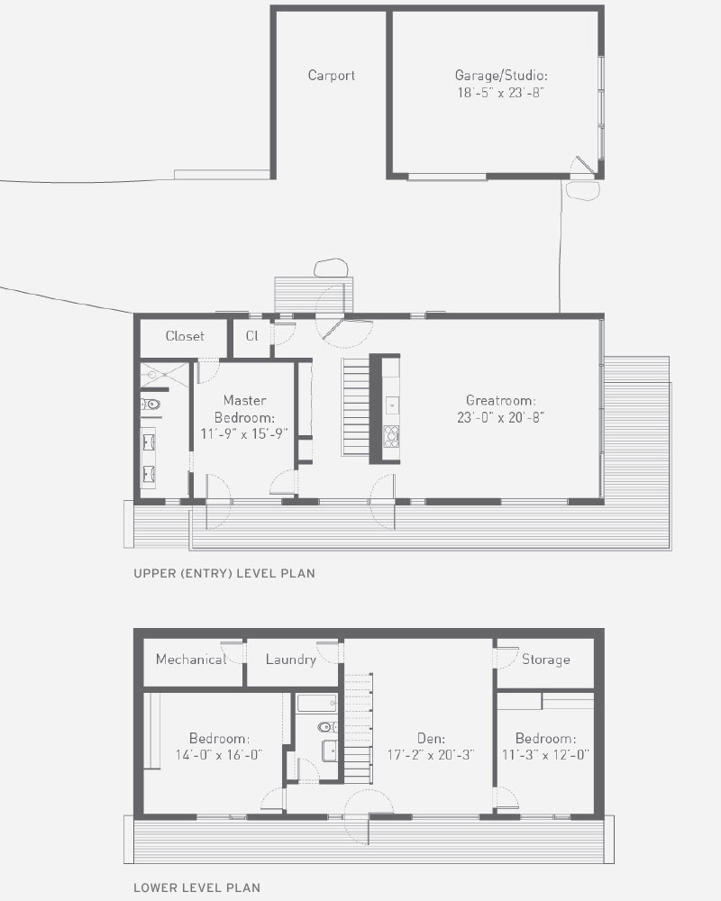 Hudson woods where design meets nature availability for Upside down house floor plans