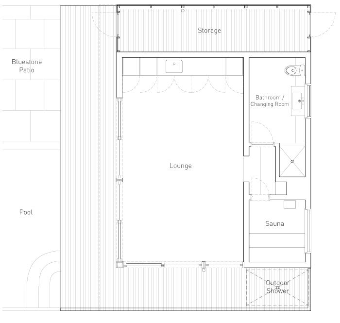 Hudson Woods Where Design Meets Nature Pool House at Hudson Woods – Pool House Floor Plans With Bathroom